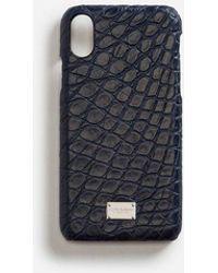 Dolce & Gabbana - Funda Para Iphone X Con Detalle En Coco - Lyst