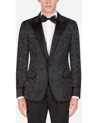 Dolce & Gabbana - Giacca Da Camera Tuxedo Jacquard - Lyst