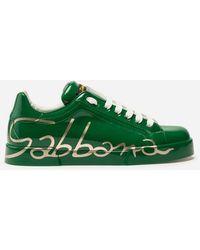 Dolce & Gabbana - Sneakers Portofino In Pelle Tricolore - Lyst