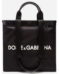 Dolce & Gabbana - Shopping In Nylon Con Logo Gommato - Lyst