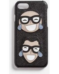Dolce & Gabbana - Dauphine Calfskin Iphone 7 Cover With Designers' Patch - Lyst
