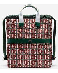 Dolce & Gabbana - Zaino In Nylon Stampa Dg Logo - Lyst