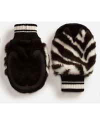 Dolce & Gabbana - Faux Fur Gloves - Lyst