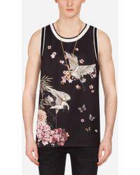Dolce & Gabbana - Printed Sleeveless T-shirt - Lyst