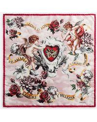 Dolce & Gabbana - Printed Silk Foulard 50 X 50 Cm – 20 X 20 Inches - Lyst
