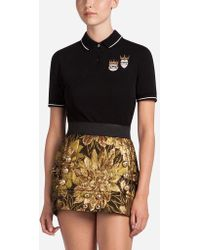 Dolce & Gabbana - Cotton Polo Shirt With Patch - Lyst