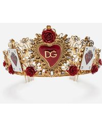Dolce & Gabbana - Tiara With Decorative Elements - Lyst