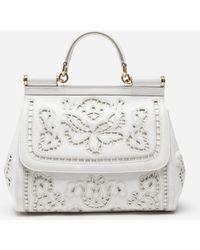 Dolce   Gabbana - Medium Sicily Bag In Intaglio Nappa Leather - Lyst c811d7bd53d36
