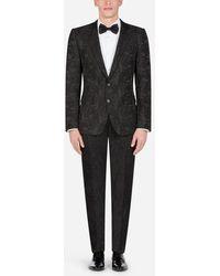 Dolce & Gabbana - Abito Martini Jacquard Floreale - Lyst
