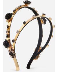 Dolce & Gabbana - Dual Row Headband With Decorative Elements - Lyst