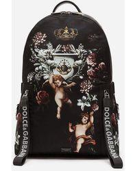 Dolce & Gabbana - Mochila En Nailon Estampado - Lyst
