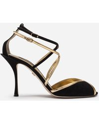 Dolce & Gabbana - Sandals In A Mix Of Materials - Lyst