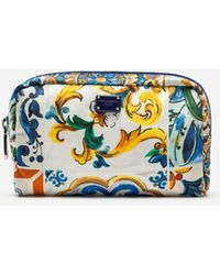 Dolce & Gabbana - Majolica-print Nylon Make-up Bag - Lyst