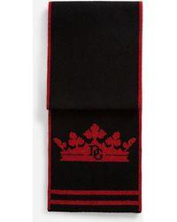 Dolce & Gabbana - Scarf In Inlaid Wool Blend - Lyst