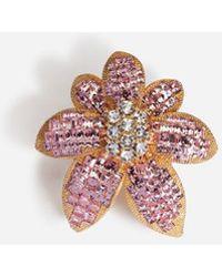 Dolce & Gabbana - Ring With Rhinestone Flower Detail - Lyst