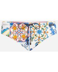 Dolce & Gabbana - Braguita De Bikini Estampada - Lyst