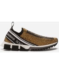 Dolce & Gabbana - Sorrento Sneakers With Rhinestones - Lyst
