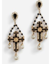 Dolce & Gabbana | Pendant Earrings With Decorative Elements | Lyst