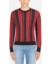 Dolce & Gabbana - Printed Cashmere And Silk Sweater - Lyst