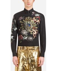 Dolce & Gabbana - Martini-fit Shirt In Printed Cotton - Lyst