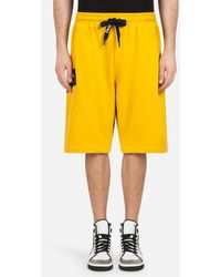 Dolce & Gabbana - Bermuda Jogging Shorts In Cotton With Patch - Lyst