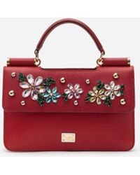 af499d1d2a Dolce   Gabbana - Sicily Mini Bag In Dauphine Calfskin With Embroidery -  Lyst