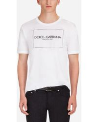 Dolce & Gabbana - T-Shirt In Cotone Stampato - Lyst