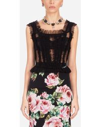 Dolce & Gabbana - Tulle Bustier Top - Lyst