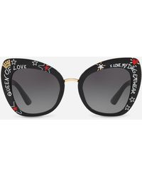 Dolce & Gabbana - Butterfly Sunglasses In Acetate With Graffiti Print - Lyst
