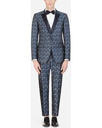 Dolce & Gabbana - Martini-fit Tuxedo Suit In Star-design Jacquard - Lyst
