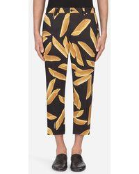 Dolce & Gabbana - Pantalones De Algodón Estampado - Lyst