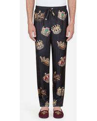 Dolce & Gabbana - Pantalon De Pyjama En Soie Imprimée - Lyst