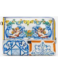 Dolce & Gabbana - Printed Nylon Toiletry Bag - Lyst