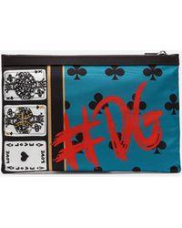 Dolce & Gabbana - Printed Nylon Document Holder - Lyst