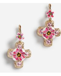 Dolce & Gabbana - Pendant Earrings With Decorative Elements - Lyst