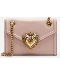 61fcae278dda Dolce   Gabbana - Mini Devotion Bag In Smooth Calfskin - Lyst
