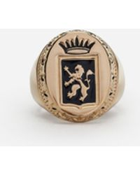 Dolce & Gabbana - Ring With Crest - Lyst