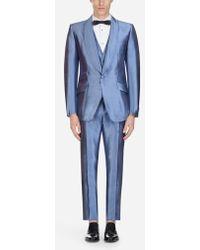 Dolce & Gabbana - Anzug Sicilia Aus Seidenmikado - Lyst