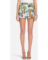Dolce & Gabbana - Shorts In Printed Cotton - Lyst