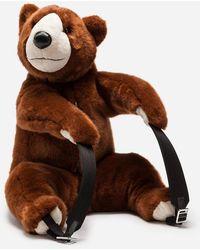 Dolce & Gabbana - Backpack In Faux Fur - Lyst