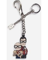 Dolce & Gabbana - Keyring With Designers' Charm - Lyst