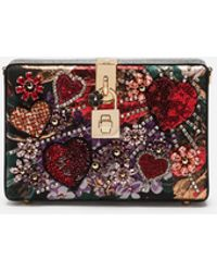 Dolce & Gabbana - Dolce Box Clutch In Lurex Jacquard And Ayers Snakeskin - Lyst