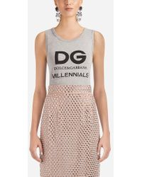 Dolce & Gabbana - Sleeveless Cotton T-shirt - Lyst