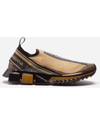 Dolce & Gabbana - Sneakers Sorrento Melt In Maglina Stretch Con Logo - Lyst