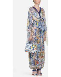 Dolce & Gabbana - Majolica-print Silk Jumpsuit - Lyst