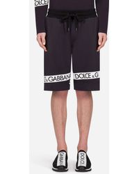 Dolce & Gabbana - Logo-printed Loopback Cotton-jersey Shorts - Lyst