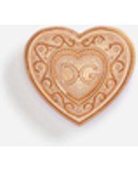Dolce & Gabbana - Galvanized Metal Heart Brooch - Lyst