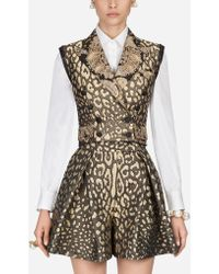 Dolce & Gabbana - Blazer-style Vest In Jacquard - Lyst