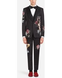 Dolce & Gabbana - Tuxedo With Embroidery - Lyst