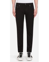 Dolce & Gabbana - Five-pocket Trousers In Stretch Cotton - Lyst